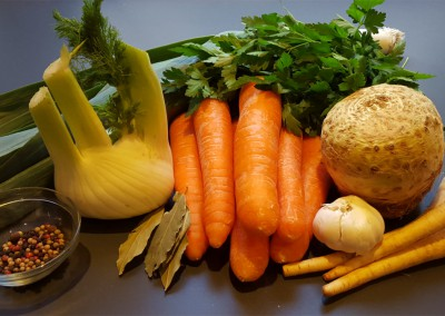 Einfache Gemüsebrühe selbst gemacht