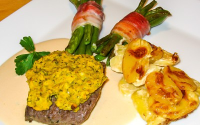 Rezept Lammsteak Senfkruste