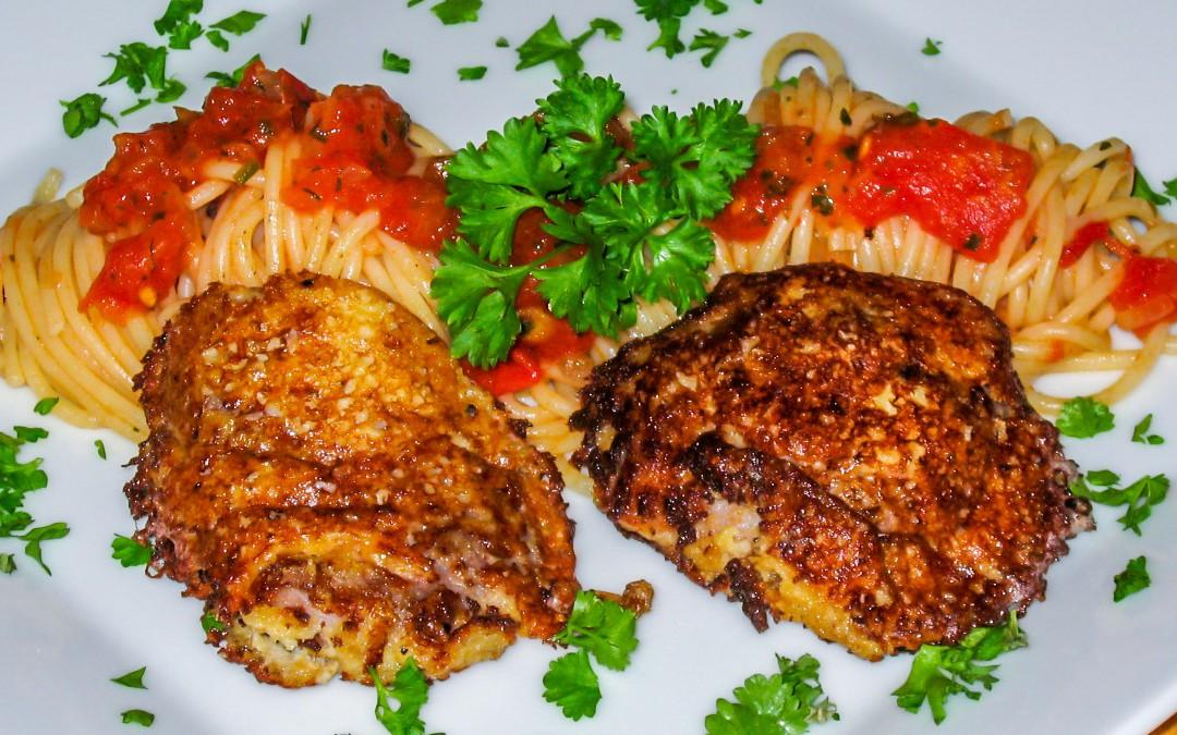 Piccata vom Schweinefilet  mit Tomatenspaghetti