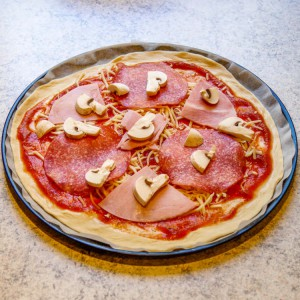 Rezept Pizza Salami