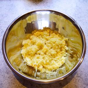 Die gepressten Kartoffeln