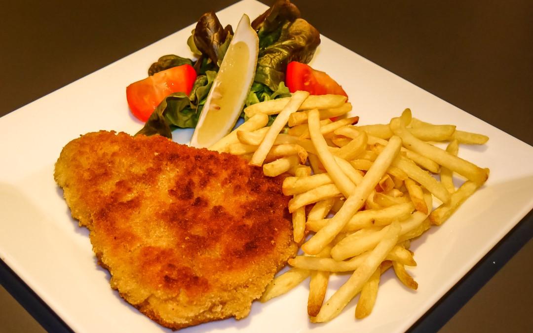 Rezept Paniertes Scheineschnitzel mit Pommes frites