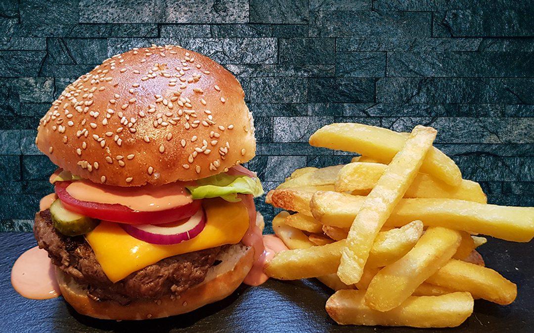 NEUES REZEPT – Burger mit Pommes frites