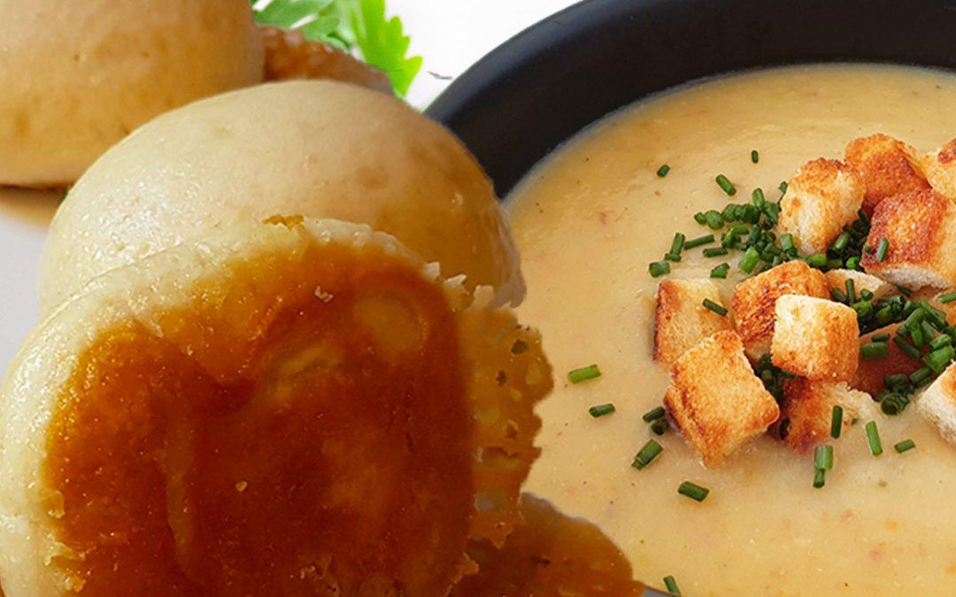 NEUES REZEPT – Dampfnudeln mit Kartoffelsuppe