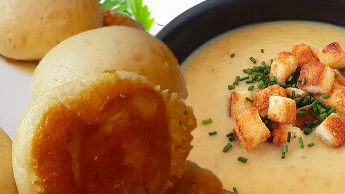 Rezept Dampfnudeln mit Kartoffelsuppe