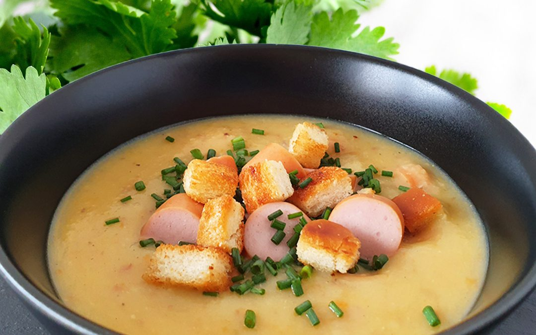 NEUES REZEPT – Kartoffelsuppe mit Speck und Wienerle