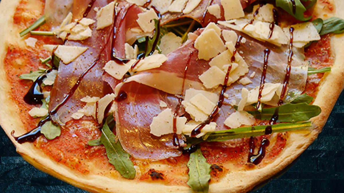 Rezept Pizza mit Parmaschinken
