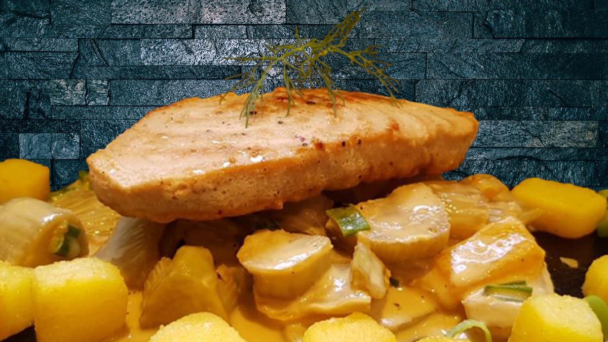 Rezept Thunfisch mit Fenchel und Kartoffelwürfeln